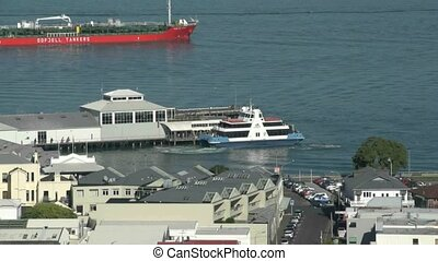 Ferry at Devenport wharf. - DEVONPORT, AUCKLAND, NEW ZEALAND...