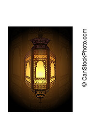 ramadan fanoos background - Illustration of fanoos lantern...