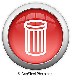 Recycle bin icon isolated on white