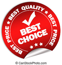Best choice sticker - Best choice guarantee sticker