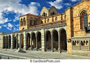Details of the Basilica of San Vicente in Avila, Spain