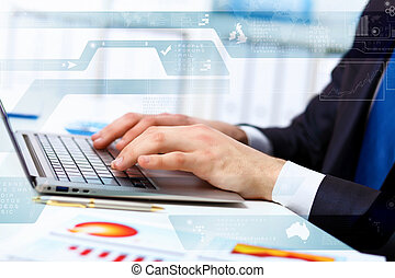 Business person working on computer
