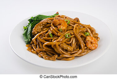 noodles stir-fried noodles with chicken