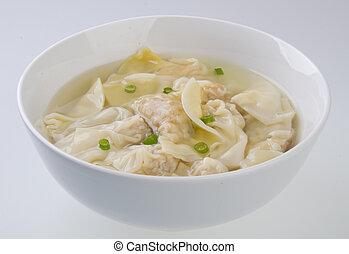 Wonton Soup. pork soup asia food