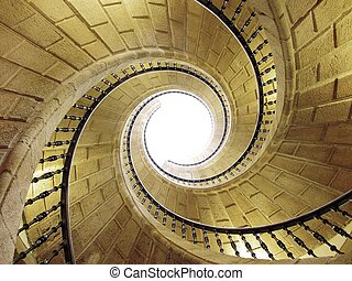 triple spiral staicase, Santiago, Spain - Beautiful triple...