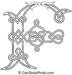 Celtic Letter F - A Celtic Knot-work Capital Letter F...