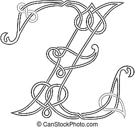 Celtic Letter Z - A Celtic Knot-work Capital Letter Z...