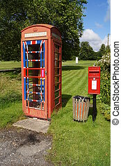 English Post and Phone box - Royal Mail Post box and...