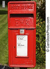 English Royal Mail Post box - Royal Mail Post box in English...