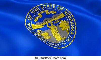 Nebraskan flag in the wind