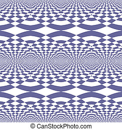Seamless fancy op art patttern. - Seamless geometric fancy...