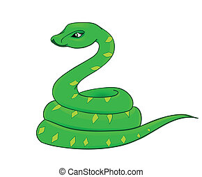 cartoon snake, the symbol of 2013 - snake cartoon with...