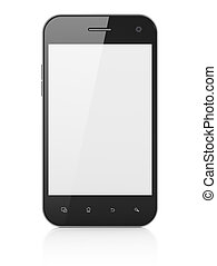 Beautiful smartphone on white background Generic mobile...