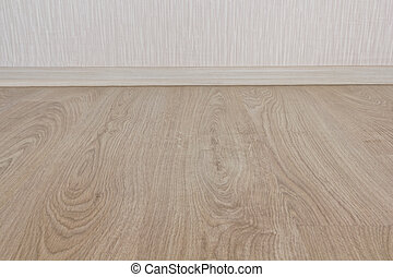 laminate plinth wall - the floor, covered with a laminate...
