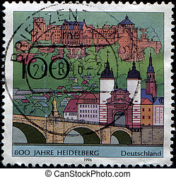 Heidelberg - GERMANY - CIRCA 1996: A stamp printed in German...
