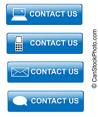 Contact us buttons - Illustration of various way for...