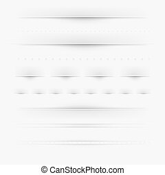 Set Of Dividers, Isolated On Grey Background, Vector...
