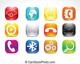abstract colorful mobile icon