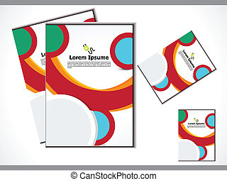abstract colorful flayer vector