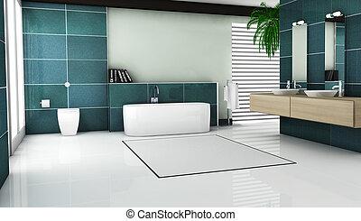 Bathroom Interior Design - Interior of contemporary bathroom...