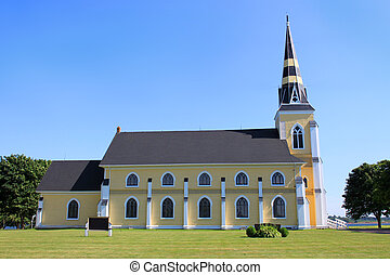Rural church along the countryside of Prince Edward Island,...