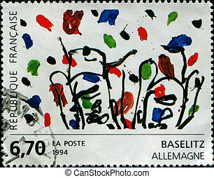 Contemporary Art in Europe: Baselitz - Germany - FRANCE -...