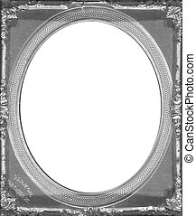 Pewter Frame - Pewter picture frame with oval opening