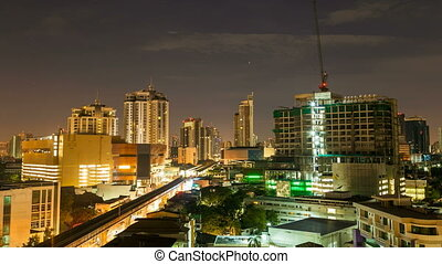 Time Lapse - Bangkok city at Sunrise - Time Lapse view of...