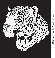 Stock Illustration - leopard made in eps