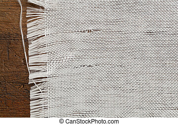 woven fiberglass cloth - edge of woven fiberglass cloth on a...