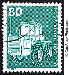 Postage stamp Germany 1975 Tractor