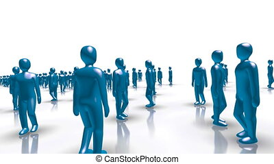 People Word Business - Blue characters forming the word...