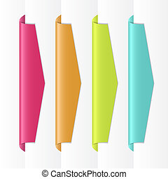 Vector colorful labels - EPS10 file. Vector colorful labels...