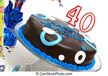 The Big 40 - A birthday cake for someone at the big 40.
