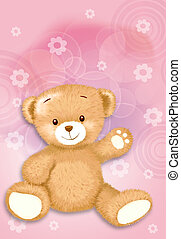 hand drawn 017 - cute teddy bear by Freehand drawing.
