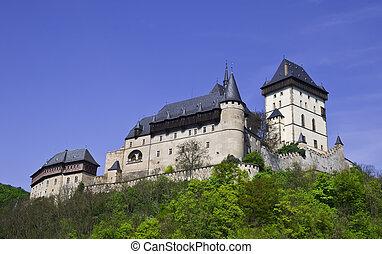 Castle of Karlstein in Czech Republic