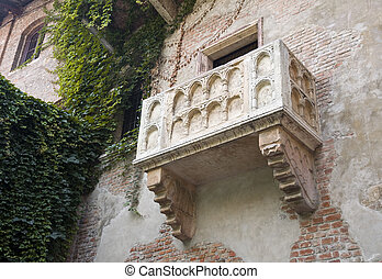 The balcony of Romeo and Juliet in Verona, Italy