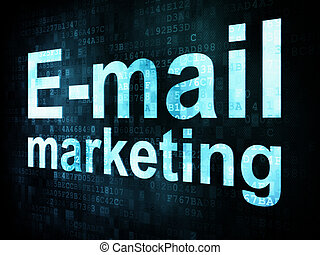 Marketing concept: pixelated words Email marketing on...