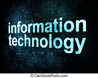 Information technology concept: pixelated words information...