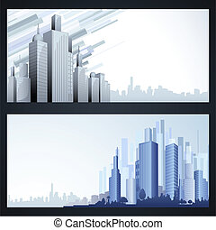 Building Template - illustration of high modern building in...