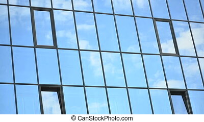 Time lapse of reflected clouds - Time lapse of clouds,...