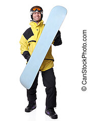 Snowboarder - Full isolated studio picture from a...