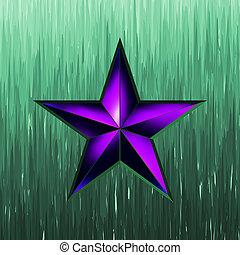illustration of a purple star on steel. EPS 8