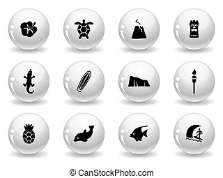 Web buttons, Hawaii icons