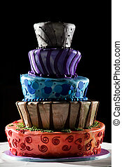 Super cool wedding cake - very funky and fun! - This is a...