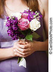 bouquet of flowers - Wedding photo of a bridesmaids wedding...