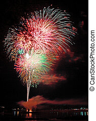 Fireworks at Frontier Park - Fourth of July fireworks at...