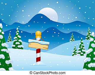 North Pole Winter Scene with Snow - The North Pole at...