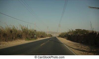 Driving near Lima, Peru