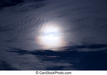 Full moon on night sky background